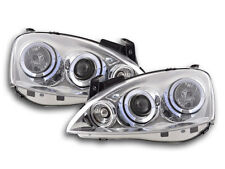 Scheinwerfer Angel Eyes Opel Corsa C Bj. 01-06 chrom Scheinwerfer Angel Eyes