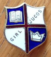 Girl Jucos Pin Badge Rare School Vintage Original (D2)