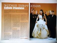 COUPURE DE PRESSE-CLIPPING :  WITHIN TEMPTATION [2pages] 03/2001 Sharon Den Adel