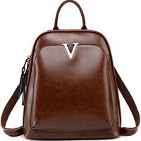 100% Genuine Leather Women's Backpack Travel Bag Rucksack Crossbody Handbags