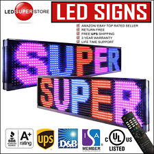 """LED SUPER STORE: 3C/RBP/IR/2F 19""""x52"""" Programmable Scroll. Message Display Sign"""
