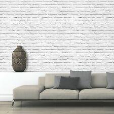 Feature Wall Photographic. Muriva Painted White Brick Wallpaper 102539