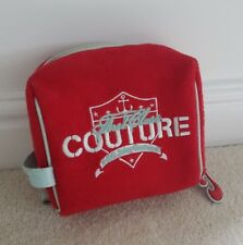 Juicy Couture Bag Small Canvas  Bag Red With Logo