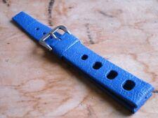 Genuine N.O.S. TROPIC SPORT Swiss Made strap. 20 mm. ELECTRIC BLUE.