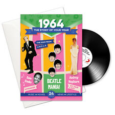 54th BIRTHDAY GIFT -1964 4-In-1 Card,Booklet,Pop CD and Download