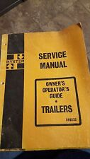 Hyster Trailers Owners & Operators Guide Service Manual
