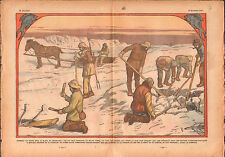 Ice Fishing Fish Greenland Pêche Poisson Groenland Glace Horse 1933 ILLUSTRATION