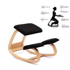 Ergonomica sedia inginocchiata Nero sgabello in ginocchio scamosciato