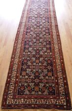 Runner Antique Tabrizz Hand-knotted Wool Multi-Color Oriental Long rug 3 x 13.6