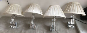 Laura Ashley Paloma Wall lights / Cream Shades x 4 - Excellent Condition