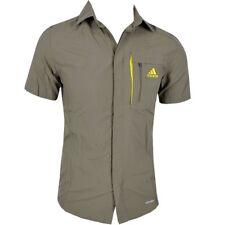 Adidas HT Wick Shirt Herren Outdoor Hemd Wanderhemd Funktionshemd kurzarm khaki