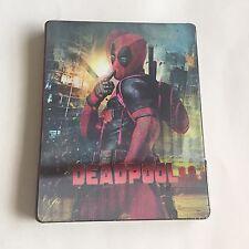 Marvel Deadpool Blu-Ray Steelbook [UK] Embossed Glossy W/Lenticular Magnet NEW!