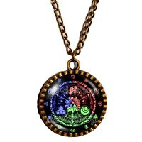 The Legend Of Zelda Triforce Necklace 12 Constellation Star Pendant Jewelry