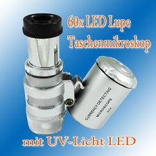 60x lente d'ingrandimento LED UV MINI microscopio tascabile microscopio gioielliere lente d'ingrandimento tascabile gioielli lente d'ingrandimento
