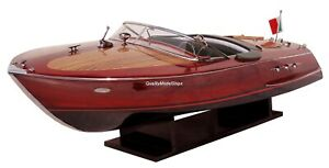 Riva Ariston Gorgeous Handmade Wooden Model Speedboat 35""