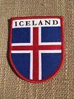 Iceland Shield Flag Souvenir Travel Patch (Iron On)