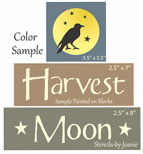 Joanie Trio Stencil Harvest Moon Crow Fall Country Prim Halloween Holiday Sign