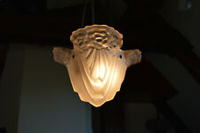 Rare Antique French ART DECO  Chandelier 1920's Marked Degue