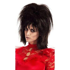 Lydia Deetz Wig Beetlejuice Movie Women's Costume Beetle Bride Lidya Goth Black