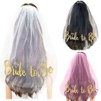 Veil Comb Bride to Be Bridal Shower Hen Night Party Veil Wedding Fancy Dress