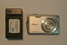 Nikon COOLPIX S3300 Silver 16 Megapixel 6X Zoom Digital Camera