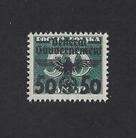 Mint WWII emblem stamp / Poland Occupation / 50 Gr 1940 Issue / MNH w/ holder