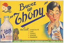 ancien buvard publicitaire boisson lait Thony nouvion en Thiérache