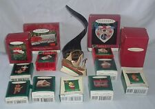 Lot Hallmark Christmas Tree Ornaments Miniature Lionel Train Old English Village