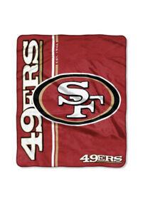 "San Francisco 49ers  50"" x 60"" Northwest Royal Plush Throw Blanket, NEW"
