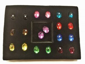 10 PAIRS (20PCS) VINTAGE JOAN RIVERS JEWEL FACETED OVAL 18x13mm. CABOCHONS J69