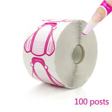 100 Pcs New Manicure Art Tips DIY Tool Insect Shape UV Gel Tape Nail Forms Tape