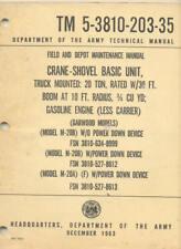 TM5-3810-203-35 Crane Shovel truck mounted Garwood M-20B Technical Manual Book