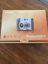 Canon PowerShot A570 Is Digital Camera - Euc - Cd, memory card, cord; free case!