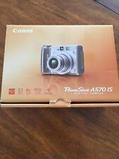 Canon PowerShot A570 IS Digital Camera - EUC - CD, memory card, cord; free case!