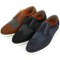New Wing Tip Casual Stylish Sneakers Mens Comfort Dress Shoes