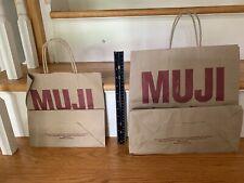 10 Brown Paper Shopping Bags Fresh Mkt Plow & Hearth SeaWorld Muji