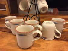 "Noritake Stoneware Mugs, Coffee Tea, 3.75"", Raindance #8675 EUC"