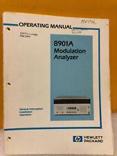 Hp / Agilent 08901-90031 Hp 8901A Modulation Analyzer Operation Manual