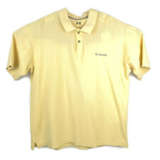 Columbia Golf Polo Shirt Short Sleeve Mens Large Yellow