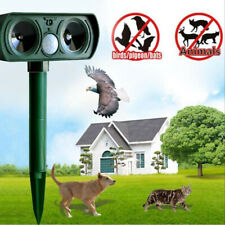 Outdoor Solar Powered Dog Chaser Ultrasonic Repeller Trainer Anti Barking Device