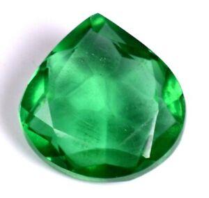 6.15 Ct Most Beautiful Rare Green Emerald Pear  Loose Gemstone Certified A1625
