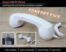 USB VoIP Skype Viber GVMATE ICQ Phone Telephone Handset Internet PC Computer whi