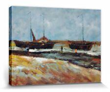 Vincent Van Gogh - Strand Scheveningen Poster Leinwand-Druck (80x60cm) #55640