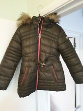 GENUINE GIRLS MICHAEL KORS KHAKI COAT AGE 5/6