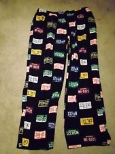 Croft & Barrow U.S.A Licence Plates Men's  Pajama/Lounge Bottoms Extra Large