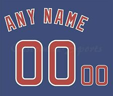 Béisbol Chicago Cubs Jersey Azul Real número Personalizado Kit sin costura