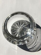 Antique c.1900 Cut Lead Crystal Ipen Table Salt Trinket Pot