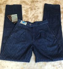 Blue Vintage 70s/80s Striped Sergio Valente Jeans. Denim