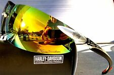 NEW* Harley-Davidson HD800 Mirrored Fire Lens Silver Frame Sunglasses & Safety