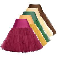 GRACE KARIN Underskirt 50s 60s Swing VTG Style Petticoat Fancy Skirts PLUS SIZE